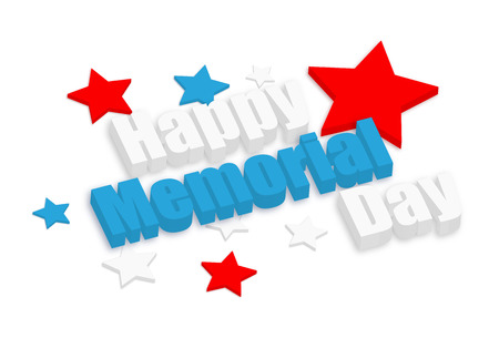 Happy Memorial Day 3d Banner