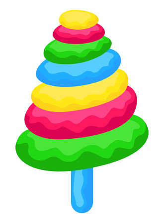 Colorful Candy Style Christmas Tree Vector