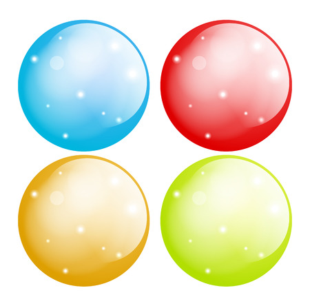 festive occasions: Colorful Glossy Buttons Set