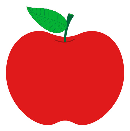 Red Apple Design Vector Vector