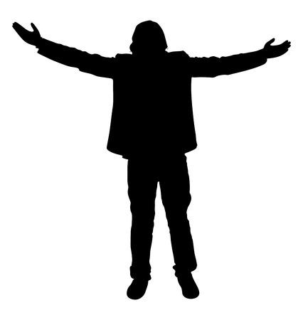 success man: Success Man Shape Illustration