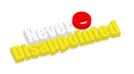nunca: Nunca nos ha decepcionado 3d texto