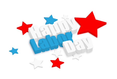 Happy Labor Day 3d Text Vector
