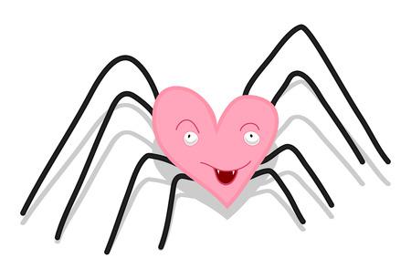 Heart Spider Vector