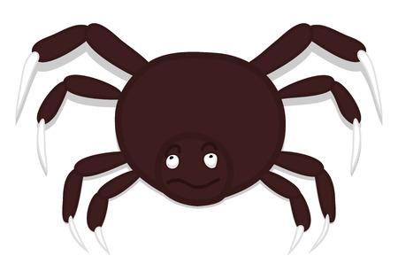 halloween spider: Halloween Dangerous Spider Illustration