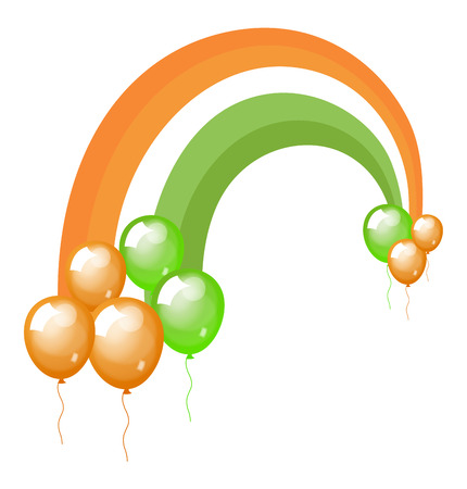 St. Patricks Day Balloons Background Vector