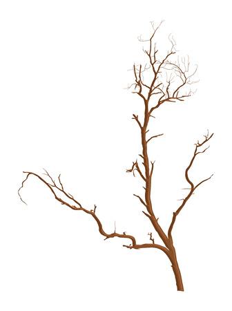 tree dead: Morto Shape albero vettore