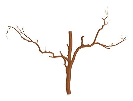 arbre mort: Dead Tree Vecteur Element Illustration