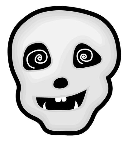 Hypnotized Halloween Skull Vector