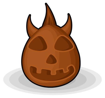 horrible: Horrible Devil Halloween Jack-O-Lantern