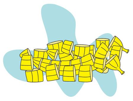fruit salad: Bananas Slices for Fruit Salad
