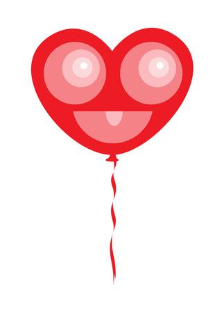 Hart Smiley Ballon
