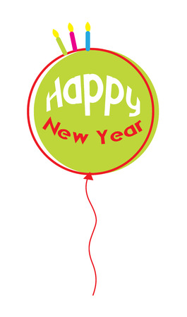 Happy New Year Balloon Vector