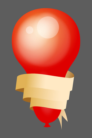 red balloon: Red Balloon with Ribbon Banner