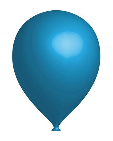 Blue 3d Balloon Vector