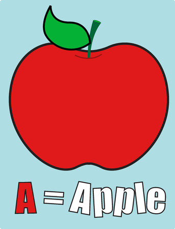 apple clipart: Apple School Template Illustration
