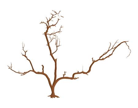 arbre mort: Art abstrait Dead Tree Vector