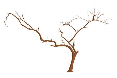 arbre mort: Design Art et des branches mortes Arbre Illustration