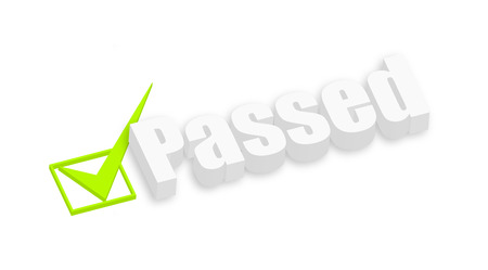 passed: Passed 3d Text