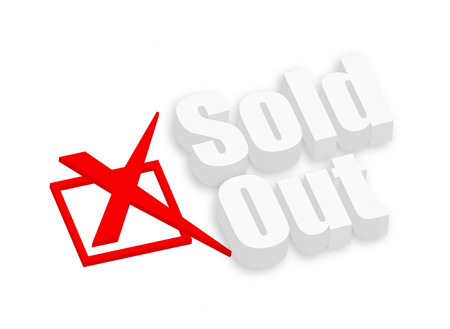 unapproved: Sold Out 3d Text Illustration