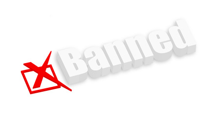 unapproved: Banned 3d Text