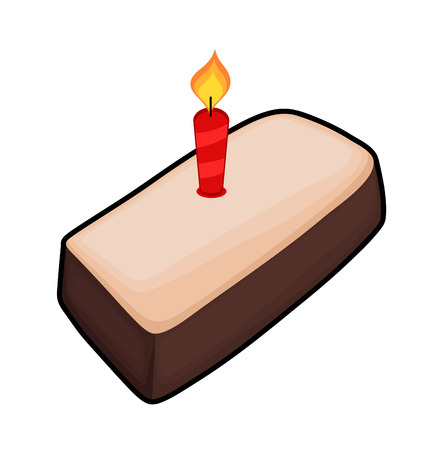 valentine          s day candy: Retro Cake with Candle