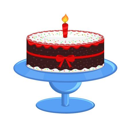 valentine          s day candy: Xmas Cake Illustration