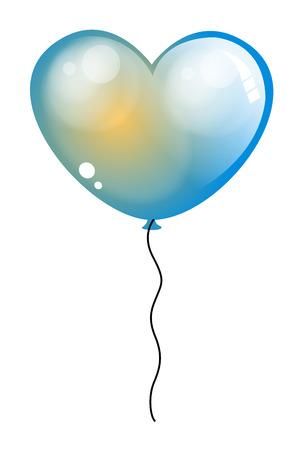 palloncino cuore: Lucida vettore Cuore Balloon Vettoriali
