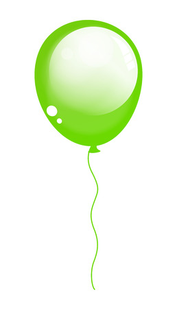 Shiny Green Balloon Vector