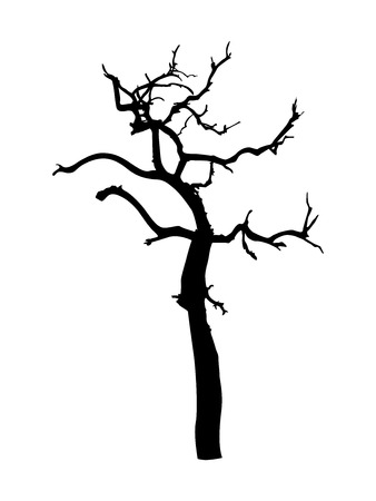 tree dead: Dead Tree forma vettoriale Vettoriali