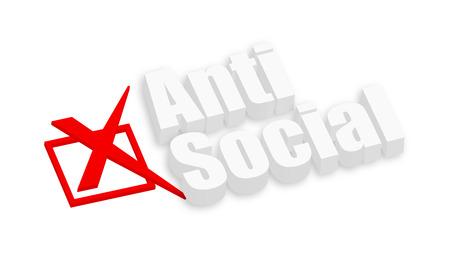 anti social: Anti Social 3d Text