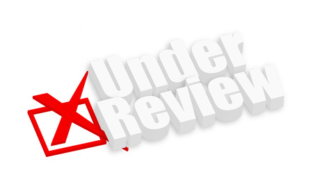 unapproved: Under Review 3d Text