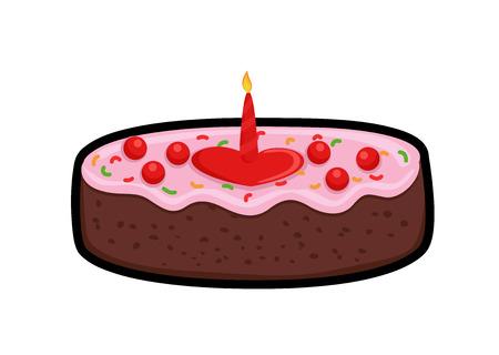 valentine          s day candy: Anniversary Heart Cake Illustration