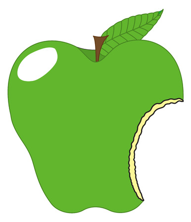 chunk: Green Eaten Apple Vector Design