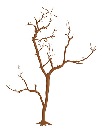 toter baum: Halloween Horrible Dead Tree Illustration