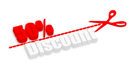 fifty: Fifty Percent Discount 3d Banner