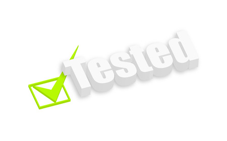 tested: Tested 3d Text