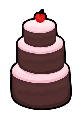 layer: Three Layer Cake Illustration