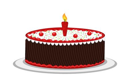 valentine          s day candy: Birthday Cake Design Vector
