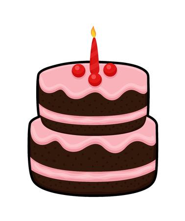 valentine          s day candy: Yummy Cake Illustration