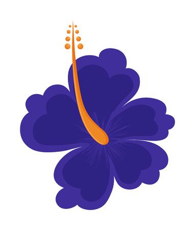 lily flower: Blauwe Bloem van de Lelie