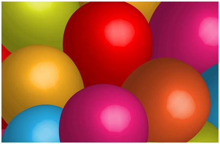 colored balloons: 3d Colored Balloons Background