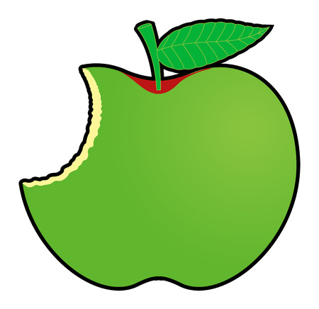 eaten: Green Eaten Apple Design