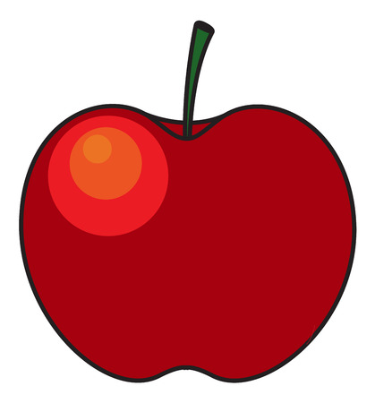 apple clipart: Glossy Red Apple