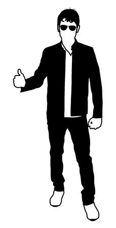 standing man: Standing Man Shape Illustration