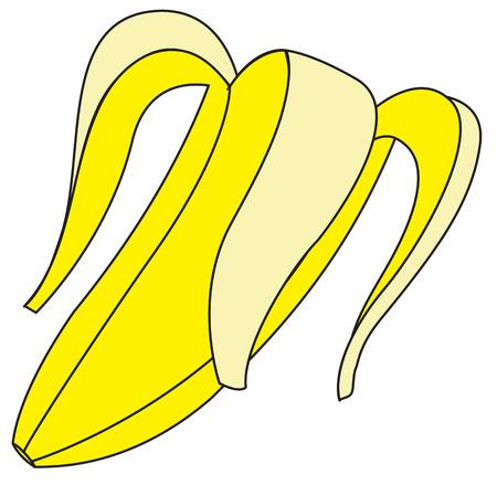shake off: Banana Peel Vector Shape