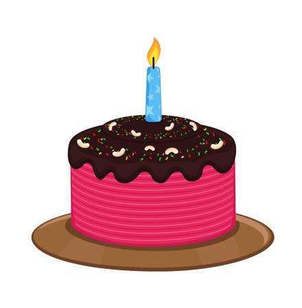 valentine          s day candy: Birthday Cake Vector Art