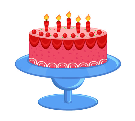 valentine          s day candy: Happy Anniversary Cake Illustration