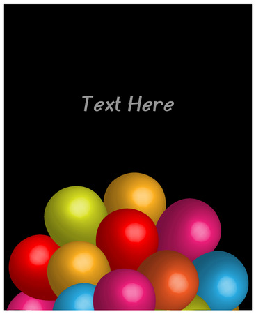 colored balloons: Abstract Colored Balloons Birthday Card