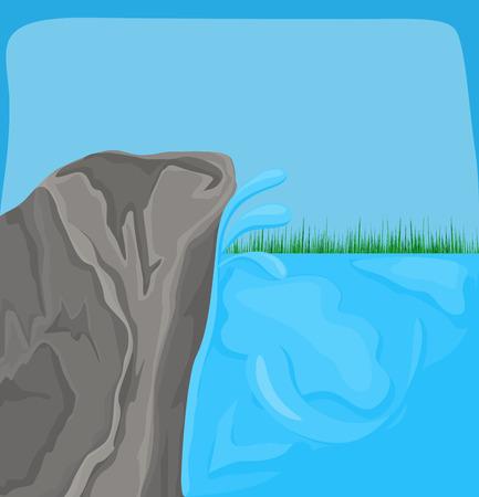 grasses: Sea Rock Grasses Background Illustration
